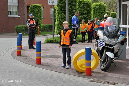 Voetgangersexamen in Gemeentelijke Basisschool Diepenbeek