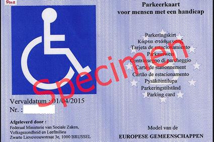 Strenge controle parkeerkaarten personen met een handicap