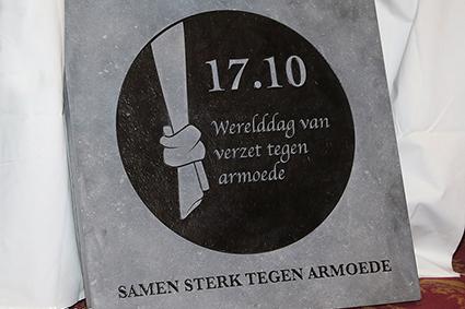 Inhuldiging eerste Limburgse ' steen tegen armoede'