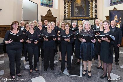 Gemengd koor Crescendo van Lutselus verleent medewerking aan Virga Jessefeesten