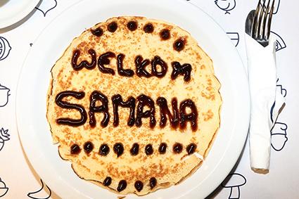 Samana bakt pannenkoeken voor 300 smullers