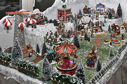 Kerstmis in het dorp van Freddy