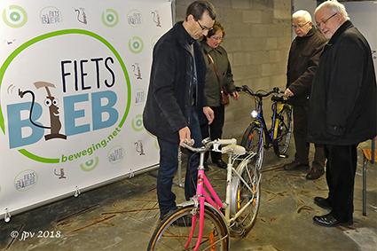 Eerste fietsjes voor de Fietsbieb in Diepenbeek