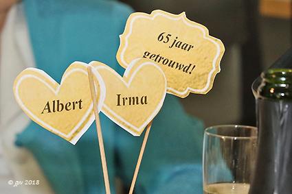 Irma en Albert genieten van hun briljante jubileumviering