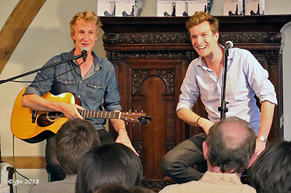 Troubabroers Mathieu en Guillaume in de Royermolen