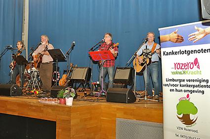 Muzikanten met kanker steunen Rozerood