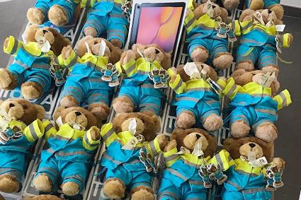 Ambulance Wens België schenkt tablets aan palliatieve eenheden in Vlaanderen.