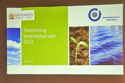 Ondernemers nemen akte van het beleidsplan van de gemeente Diepenbeek