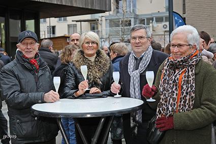 Nieuwjaarsdrink op Servaasplein