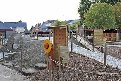 Waterpret op speelplaats van GBS Diepenbeek