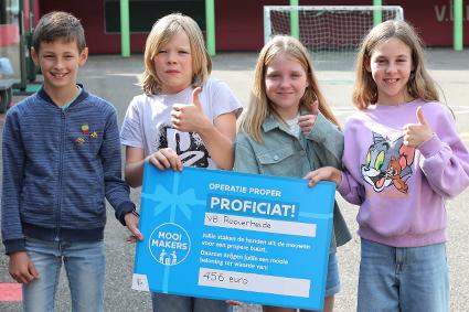 Vrije Basisschool Rooierheide zet zich in voor een propere omgeving